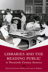 Book cover featuring several children reading and interacting in a school library. The photo is black and white, and looks to be of a scene in the early twentieth century.